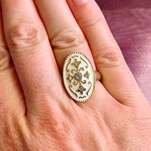 Priscilla Presley Collection Gold Statement Ring